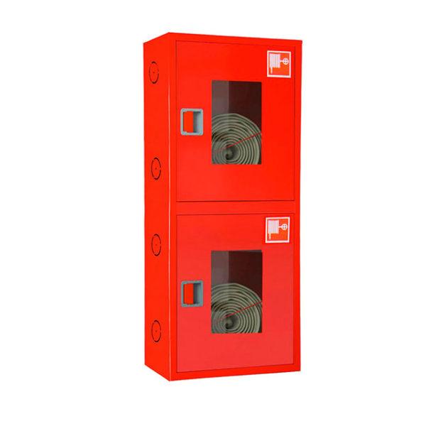 Шкаф пожарный ШПК-320-12 закрытый навесной 700-1300-300 (Для 2-х пожарных рукавовов и 2-хогнетушителей до ОП-8 или до ОУ-4.)
