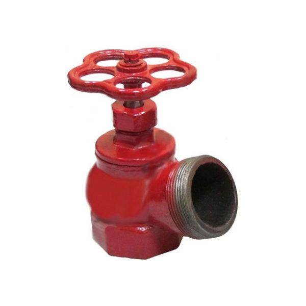 Клапан чугун угловой КПК-50-2 муфта/цапка 125⁰