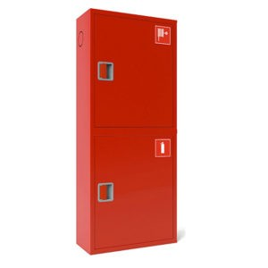 Шкаф пожарный ШПК-320, закрытый навесной, 540х1300х300 (для ПК и 2-х огнетушителей)