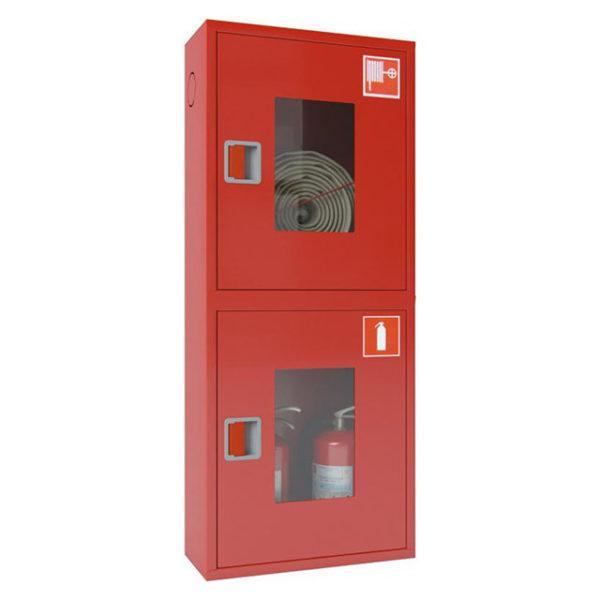 Шкаф пожарный ШПК-320 открытый навесной 540х1300х300 (для ПК и 2-х огнетушителей)
