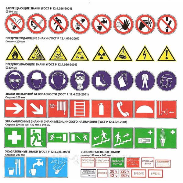 Знак безопасности на металле