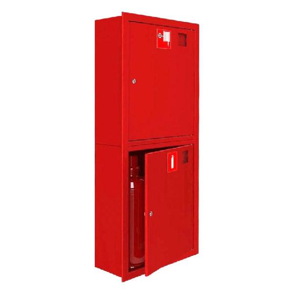Шкаф пожарный ШПК-320, закрытый встраиваемый, 540х1300х300 (для ПК и 2-х огнетушителей)