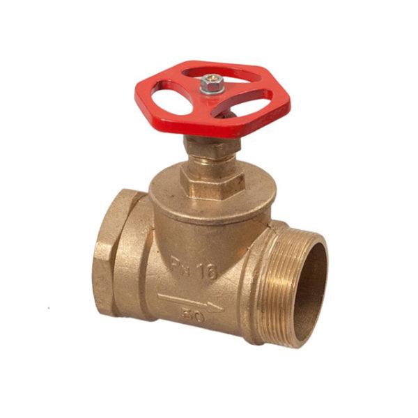 Кран (клапан)  Ду–50, латунь, прямой 15Б3Р (муфта/цапка)